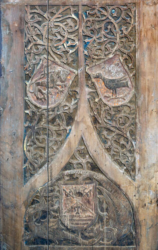 Gotická brána z Baziliky minor sv. Egídia