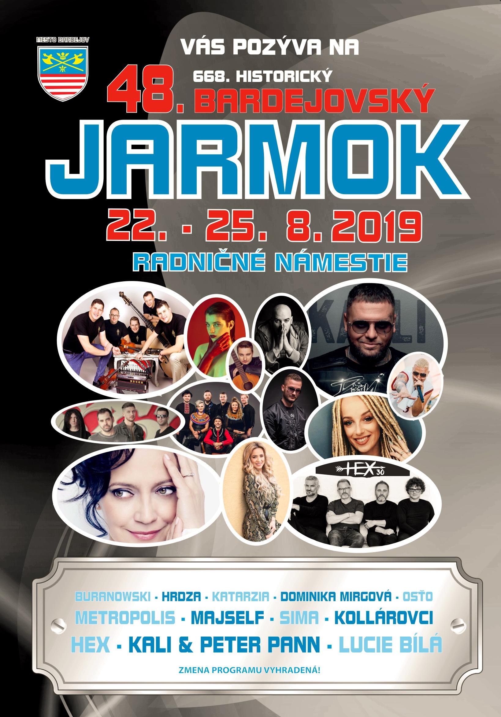 Program, kulrúrny proram, Jarmok 2019 Bardejov, Jarmok Bardejov 2019, Bardejov Jarmok 2019, 2019 jarmok Bardejov